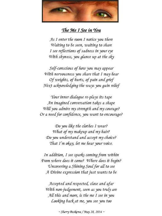 Poem The Me I See in You
