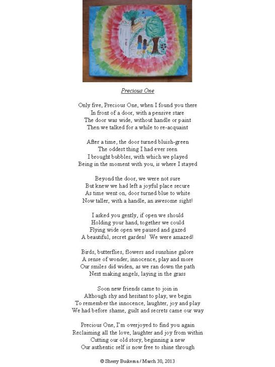 Precious One Poem and Painting