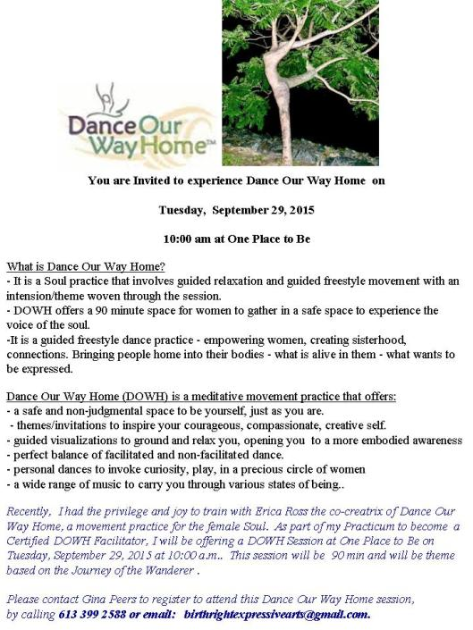 Dance Our Way Home Sept 29